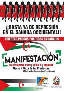 Manifestación Madrid por un Sahara Libre 2019