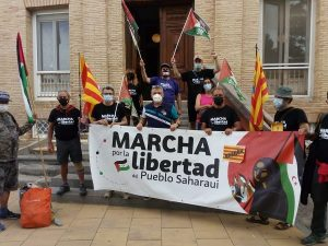 "3ª Etapa de la columna de Aragón ""Marcha por la libertad del Pueblo Saharaui"""