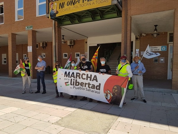 "9ª Etapa de la columna de Aragón ""Marcha por la libertad del Pueblo Saharaui"""